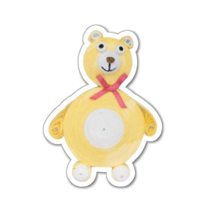 Yellow Teddy Bear Magnets  Birthday Gift, Gift for new Dad Strong Magnet for