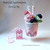 Strawberry Ice Cream Sundae Cup, Super Cute Decorations, One of A Kind Gift,