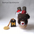 Caramel Chocolate Fudge Cat Parfait Felt Cup. Kawaii Cat Plushie, Cute Desk