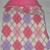 Dog Coat Pink Argyle Reversible Fleece