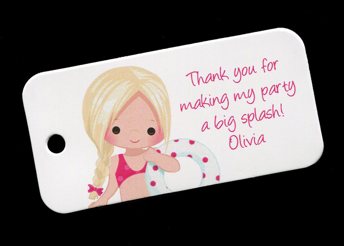 25 Personalized Tags for Birthday Party Favors Cookies Candy and Treat Bags