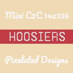 HOOSIERS Scarf - Mini C2C - 14x136 - Graph w/Written