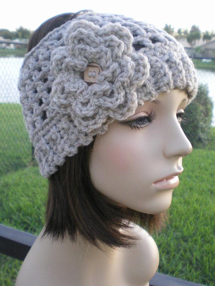 womens crochet Headband Headwrap Earwarmer ear warmer womens accessories wool