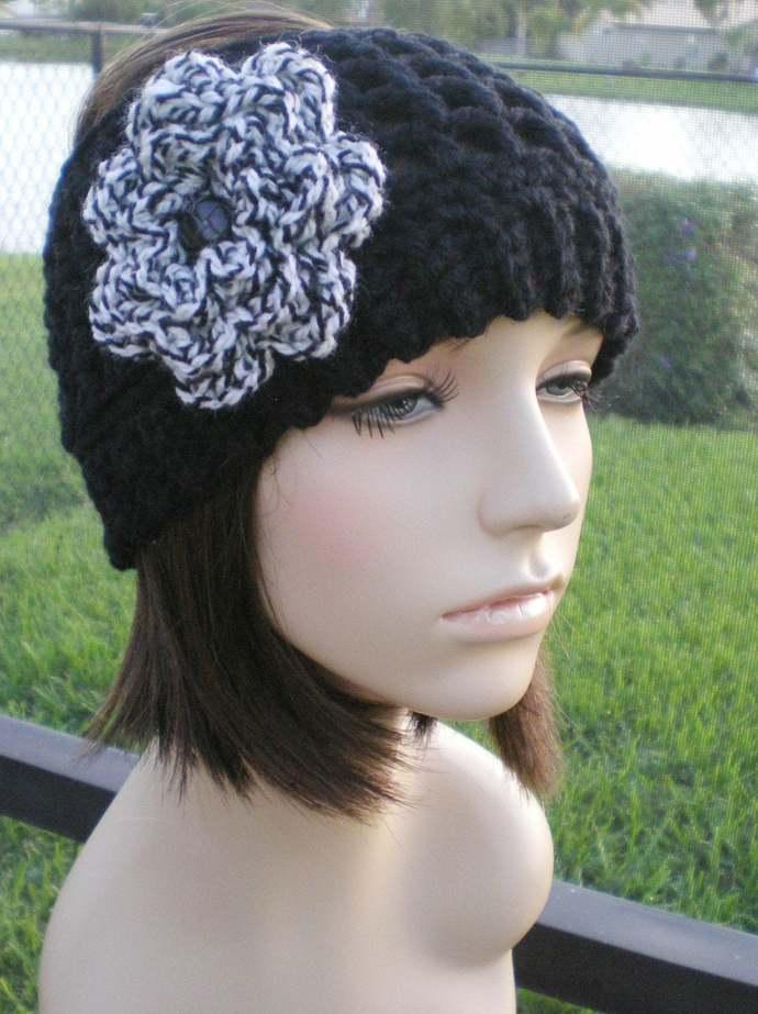 hand crochet Headband Headwrap Earwarmer ear warmer womens accessories wool