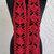 hand crochet scarf red scarf women accessories fashion scarf lacy scarf  ~ fan ~