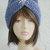 hand knit cloche turban hat ~ turban pinch ~ alpaca blue tweed