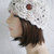 hand crochet cloche beanie hat ~ fancy head ~ wheat -made to order