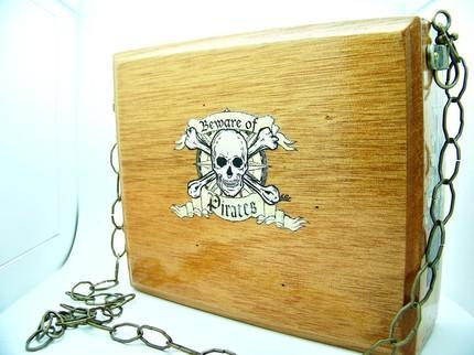 The PIRATES BOOTY Steampunk Inspired Cigarbox Purse by TheSteamPunkTr