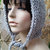 hand knit hood hat womens hood hat womens accessories hood hat knitted hood