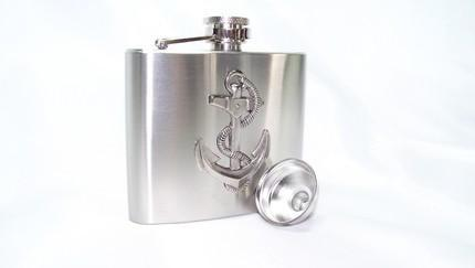 The ULTIMATE UNISEX STEAMPUNK GIFT--6oz Stainless Steel Flask by TheS