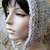 hand knit hood hat womens hood hat womens accessories knitted hood winter hat ~