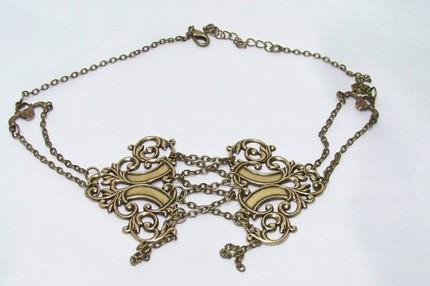 SUPER SEXY SOLID BRASS CHAIN LATTICE Steampunk Inspired Choker by The