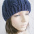 hand crochet beanie cable hat women accessory wool hat navy hat  ~ cable hat ~