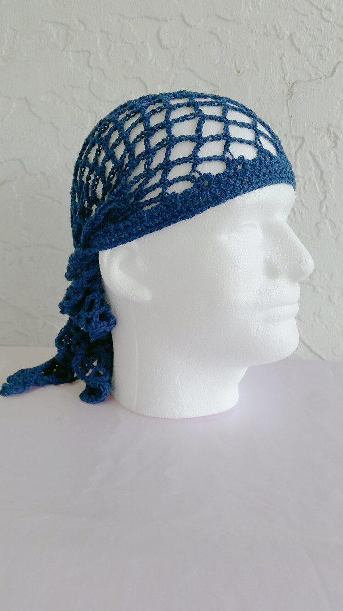 hand crochet bandana dorag  bandana mens  dreadlock unisex men accessories ~