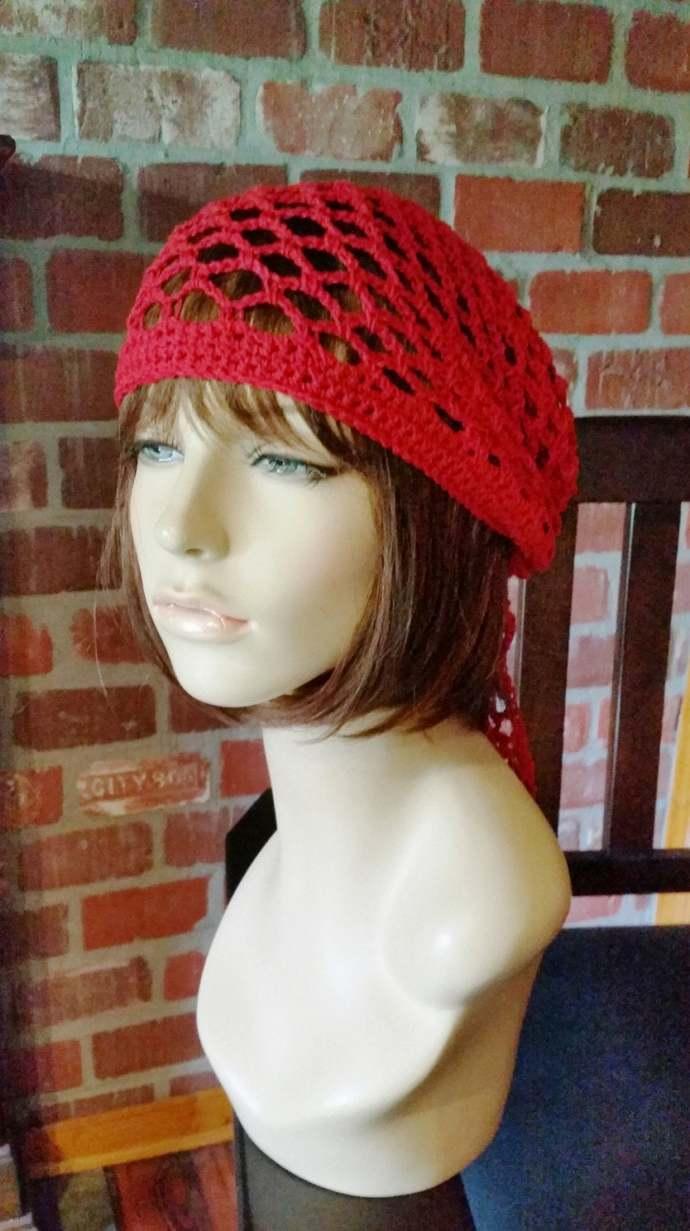 hand crochet bandana dorag women bandana men bandana dreadlock snood womens