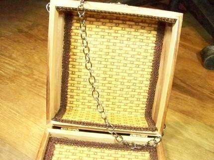 WINE AND CHEESE Upcycled Cigarbox Pocketbook By TheSteamPunkTrunk