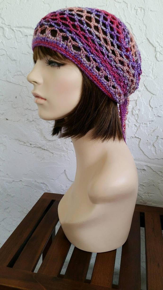 hand crochet bandana dorag womens bandana men bandana dreadlock snood