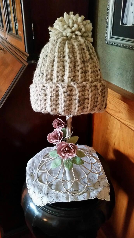 hand crochet gold metal hat chloe hat snowboarding hat olympic hat oatmeal