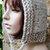 hand knit hood hat womens hood hat womens accessories knitted hood winter hat ~
