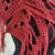 hand crochet scarf shawl ~ all seasons ~  red metallic