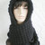 hand knit hood scarf hat crochet scarf scoodie womens accessories winter hat