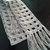 hand crochet scarf women accessory grey sparkle scarf ~  squares~  grey sparkle