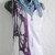 hand crochet scarf shawl ~ all seasons ~ blue purples