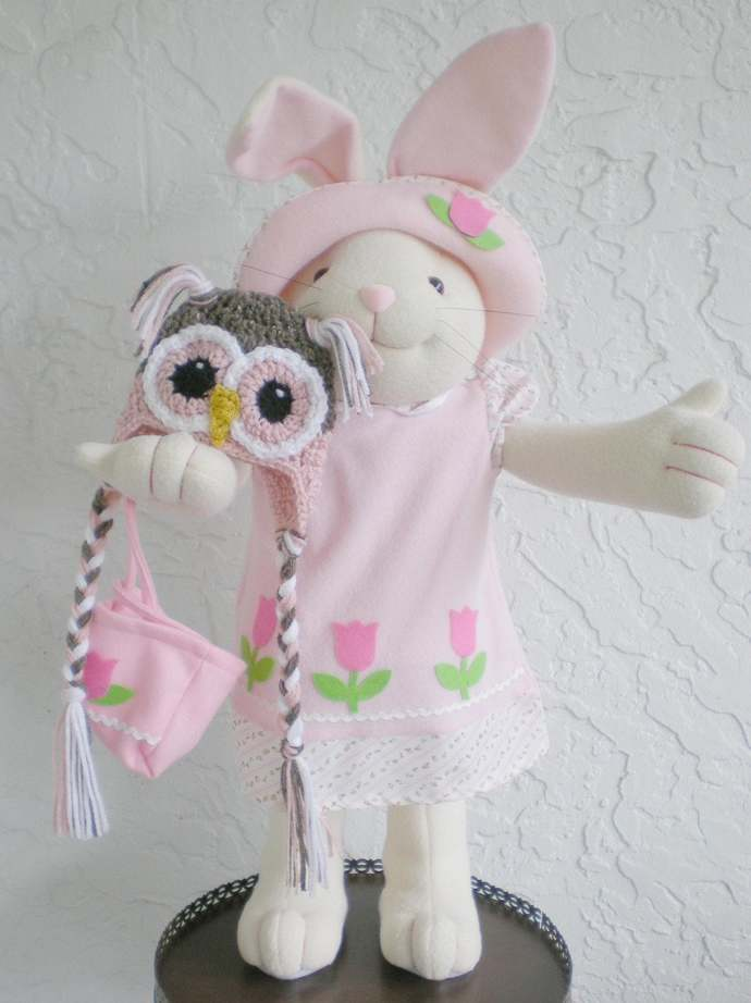 hand crochet Baby Owl Hat, Photo Prop, baby girl hat baby shower gift newborn