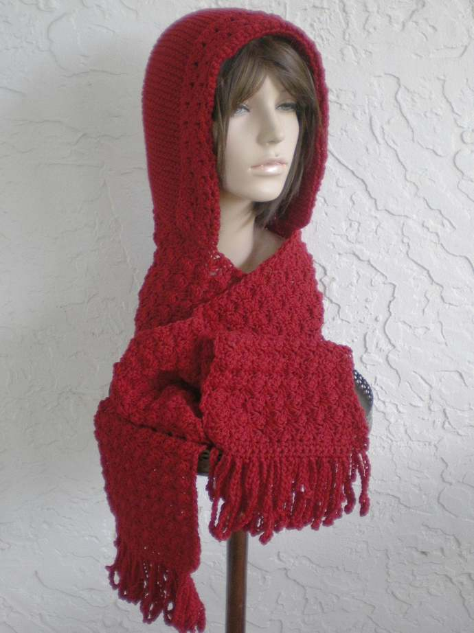 hand knit hood scarf hat crochet scarf womens accessoies wool winter hat scoodie
