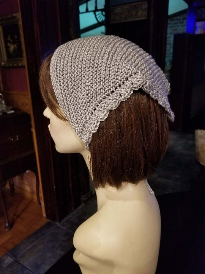 hand knit bandana dorag women accessories head scarf kerchief chic boho hair net
