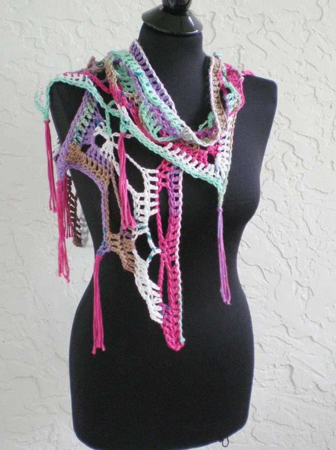 hand crochet scarf shawl women scarf evening shawl lacy scarf womens accessories