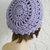 hand crochet Tam rasta beanie Hat ~ chic slouch ~ lavender sparkle