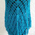 hand crochet Shawl Capelet shoulder wrap womens accessories chic lacy metallic