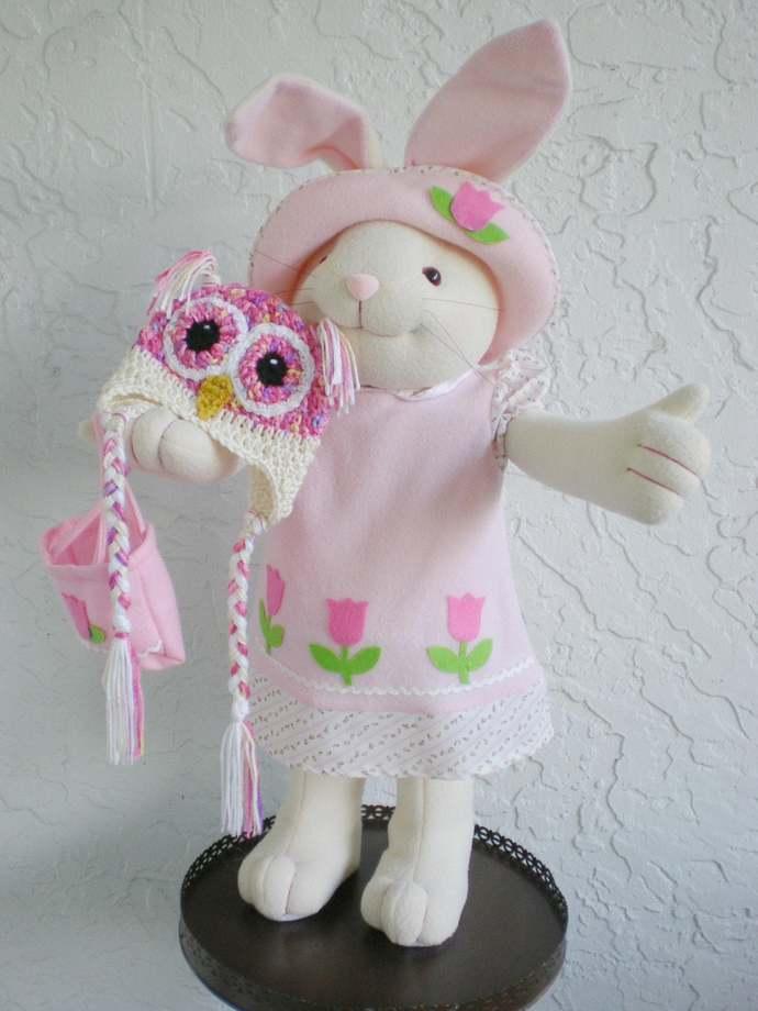 hand crochet baby owl hat, Photo Prop, baby shower gift,  baby girl hat, animal