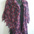 hand crochet shawl women shawl lightweight shawl purple shawl triangle shawl ~