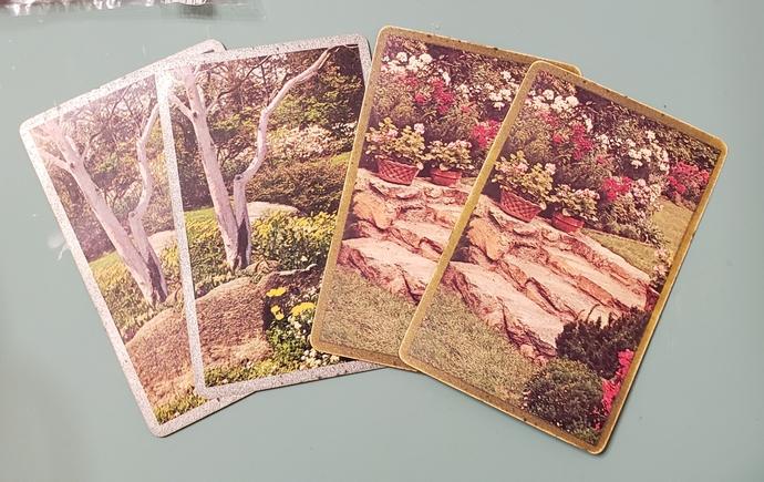 Vintage landscape playing cards