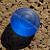 Blue Swirl Coin Glass Beads (9-1209)