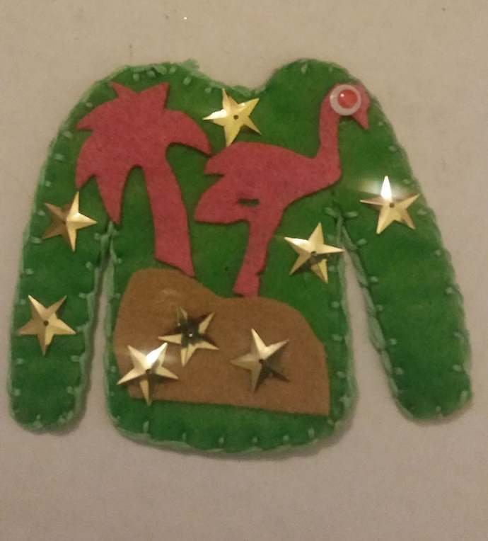 Ugly Sweater Ornaments, Christmas Ornament, Felt Ornament, Holiday Ornament,