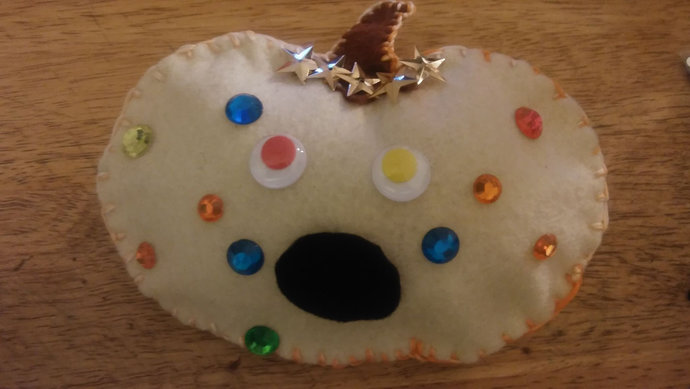 Oogle the Pumpkin, Ugly Pumpkin Ornament, Pumpkin, Kit, DIY, Felt Pumpkin,