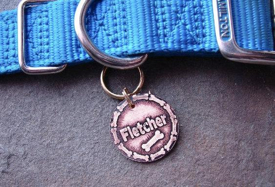 Pet Tag - Bones, Custom Pet ID Tag