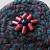 Felted Dark Teal Blue Brooch Pin