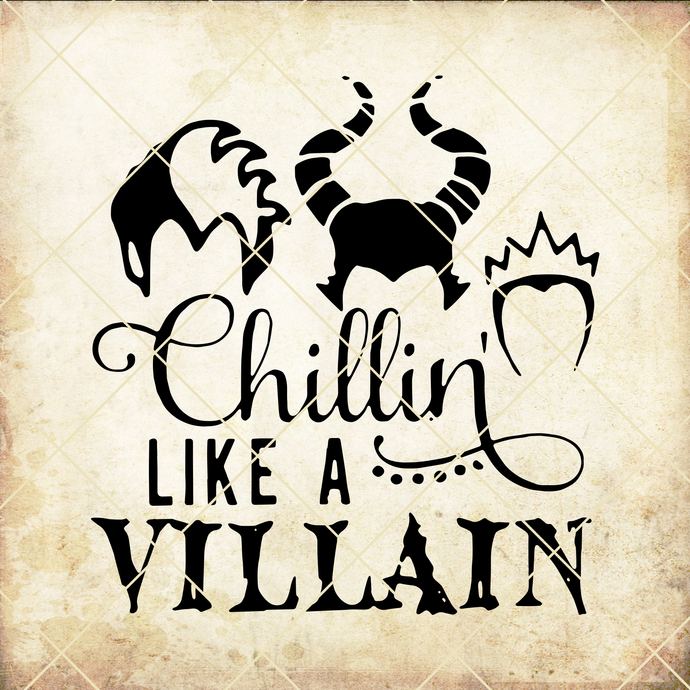 Chillin like a Villain, disney shirt, evil queen, disney descendents, disney