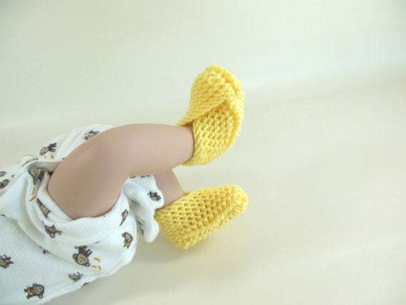 Custom Made Set of Infant Knit Booties, Socks, Slippers, Shoes in Many Available