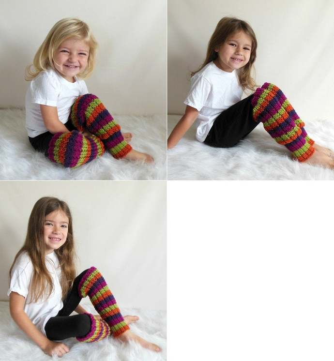 Custom Made to Order Knit Leg Warmers Toddler/Child Size Many Colors Available
