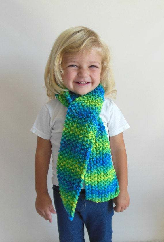 Custom Made to Order Double Knit Scarf in Toddler/Child Size--Many Colors