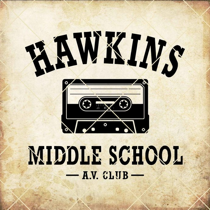 Hawkins Middle School A.V. Club (Stranger Things TV Show, av, Eleven, Mike,