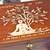 Handmade ENGRAVED CHAKRA Tree Of Life WOODEN box. LOCKABLE Spiritual Wooden