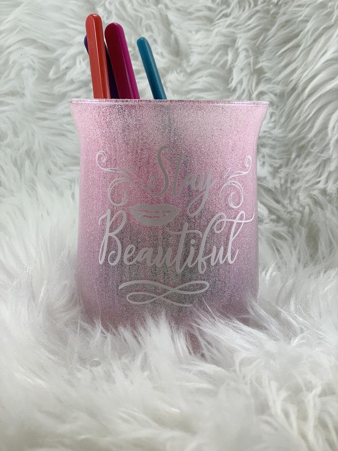 Glitter Makeup Brush Holder - Stay Beautiful Make Up