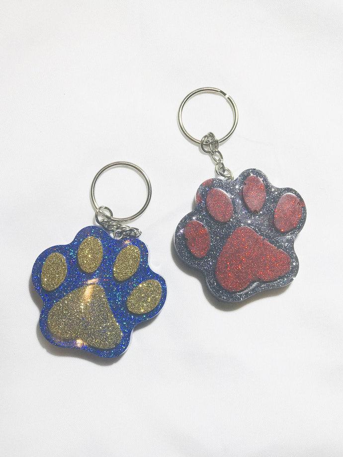 Paw Print Keychain - Dog Keychain - Gift for Dog Lover - Personalized Keychain -