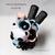 Pastel Goth Rose Panda Parfait Felt Cup. Tokyo Pop, Harajuku Panda Plush, Kawaii
